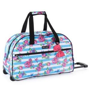 Betsey Johnson hummingbird wheeled Duffel bag